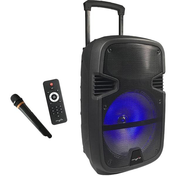 Boxă portabilă cu microfon şi luminiţe